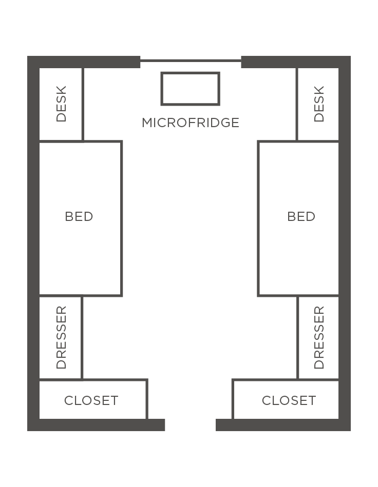 Rooms Accommodate 1 Or 2 People Guests Share Centrally Located Communal Bathrooms One Per Gender Residence Hall Rooms Are Not Air Conditioned